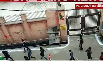 Watch | Video from UP's Kasganj shows young men armed with guns, swords on street
