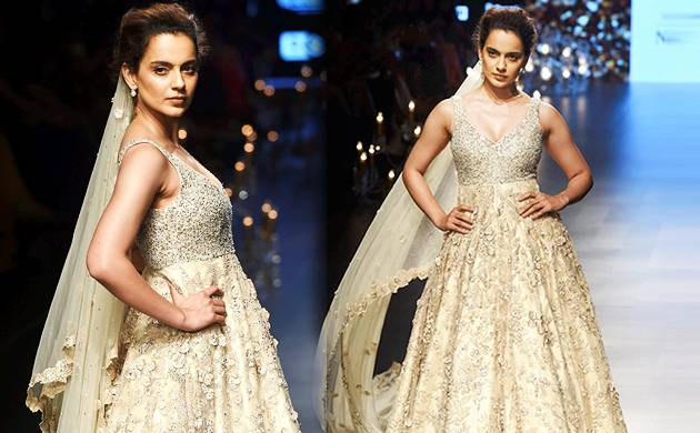 Lakme Fashion Week 2018: Kangana Ranaut looks ethereal as she walks the ramp (Source- PTI)