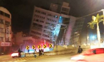 Watch Video | A 6.4-magnitude earthquake hits Taiwan; Hotel, buildings collapse