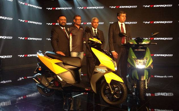 TVS Motors launch NTorq 125 scooter in the Indian market priced at Rs 58.750 (Source: Twitter)
