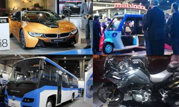 Auto Expo 2018, Day 1 Highlights: Electric buses, BMW i Series, Urban Mobility Solutions, stylish bikes win the hearts!
