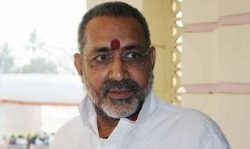 Union Minister Giriraj Singh booked in land grab case