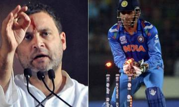 After rear-view mirror drive jibe, Rahul Gandhi compares PM Modi with cricketer who bats looking at wicket-keeper