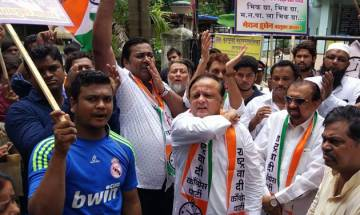 NCP protests outside PNB's Brady House branch against scam