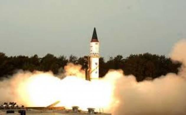 Agni II medium-range nuclear-capable missile - File Photo