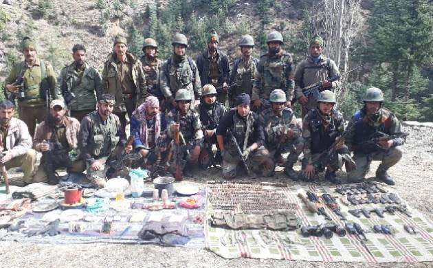 Jammu and Kashmir: Indian Army busts terrorist hideout in Kishtwar; seizes rockets, Ak 56 rifles, ammunition (Source: ANI)