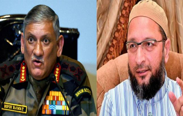 Owaisi, Ajmal criticise Army Chief General for his 'political' remarks (Source: PTI)