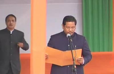 NPP's Conrad Sangma sworn-in as Meghalaya's CM says Good governance, sectoral focus key to state's progress