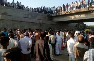 26 killed, 12 injured as truck falls into drain after skidding off Rajkot-Bhavnagar state highway in Gujarat