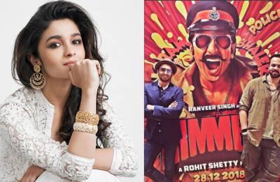 Alia Bhatt NOT to be a part of Ranveer Singh's Simmba?