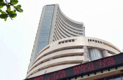 Sensex ends marginally lower on late sell-off