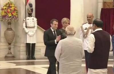 French Prez in India Highlights: Emmanuel Macron arrives at Rashtrapati Bhavan; takes part in International Solar Alliance