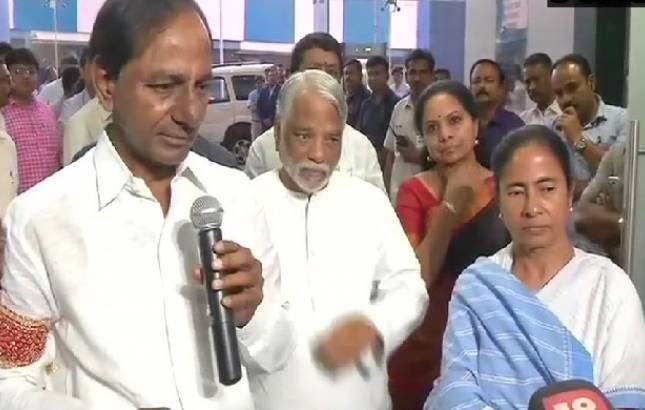 KCR, Mamata flash anti-BJP new coalition 'for the people' sans Congress (Source: ANI)