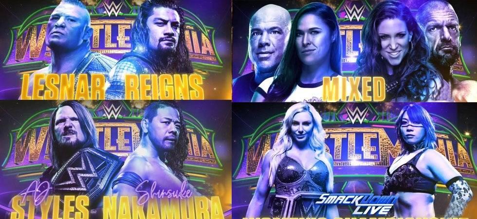 WWE: 11 BLOCKBUSTER matches make Wrestlemania 34 a 'must-watch' event (Source- WWE's Twitter)