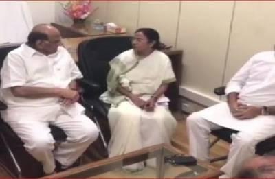 West Bengal CM Mamata Banerjee meets NCP chief Sharad Pawar in Delhi