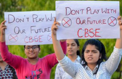 Delhi students continue to throng CBSE office in protest against re-examination