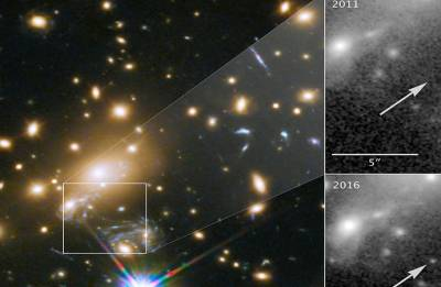 Hubble space telescope discovers Icarus, a blue supergiant star , 9 Bn years away from earth