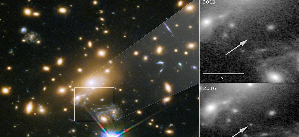 Hubble space telescope discovers Icarus, a blue supergiant star , 9 Bn years away from earth (Source: NASA, ESA, P KELLY/University of Minnesota)