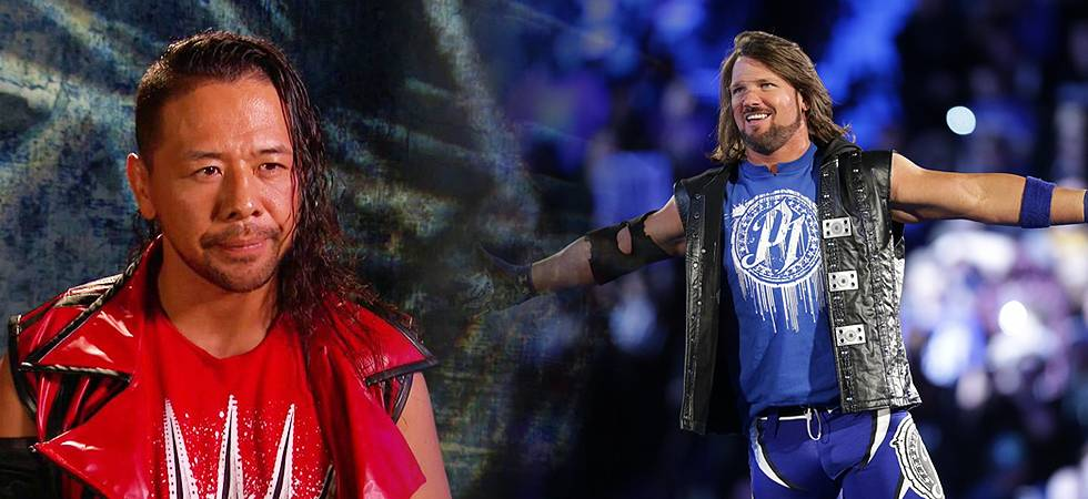 WWE: AJ Styles, Shinsuke Nakamura team up before their title match at WM 34 (Source- WWE)