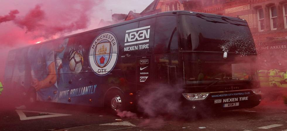 Manchester City's bus was attacked by Liverpool fanbase (image source: PTI)