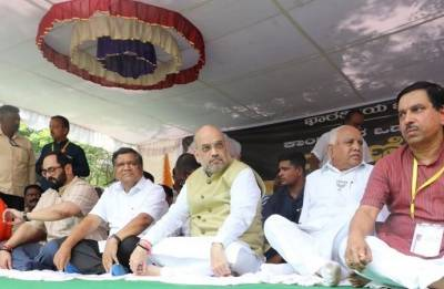Amit Shah in Karnataka Highlights: Farmers are angry with Siddaramaiah's government