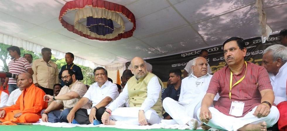 Amit Shah visits poll-bound Karnataka for Seers' blessings (File Photo)