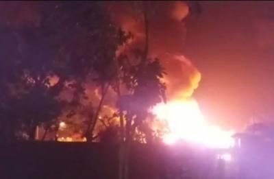 Massive fire at Rohingya camp in Delhi