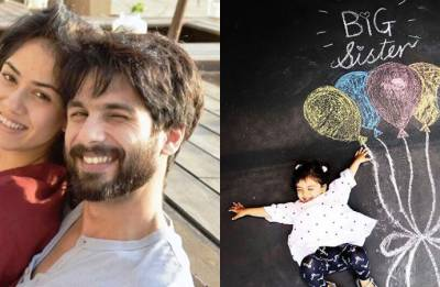 Shahid Kapoor confirms Mira Rajput's pregnancy with an awwdorable picture of 'big sister' Misha (see pic)