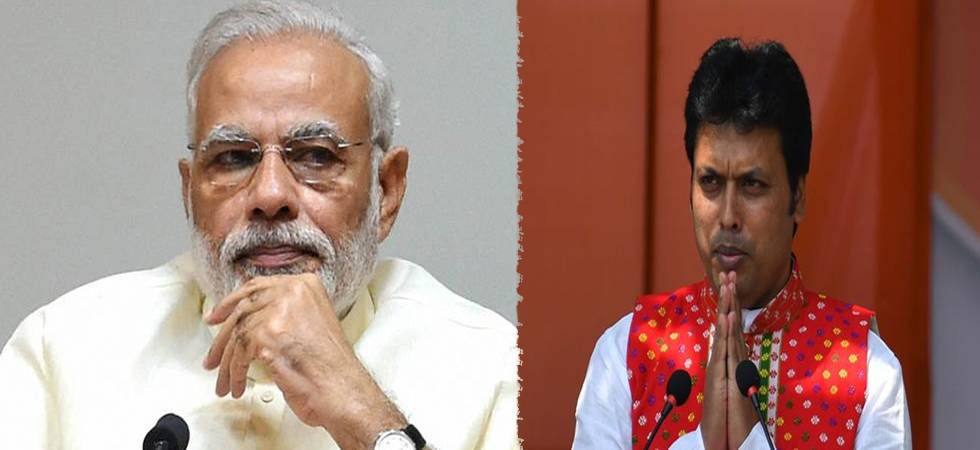Prime Minister Narendra Modi and Tripura CM Biplab Deb