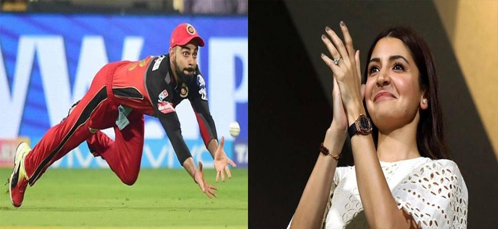 Anushka Sharma's ADORABLE reaction over Virat Kohli's stunning catch (Source - PTI, BCCI)