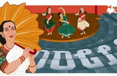 Google dedicates doodle to classical dancer Mrinalini Sarabhai on her 100th birth anniversary