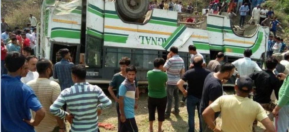 Seven killed, 12 injured as bus falls into gorge in Himachal Pradesh (Photo Source: ANI)