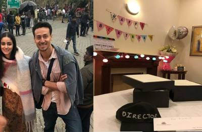 Tiger Shroff, Ananya Panday, Tara Sutaria SURPRISE SOTY 2 director Punit Malhotra on his birthday (see pics)
