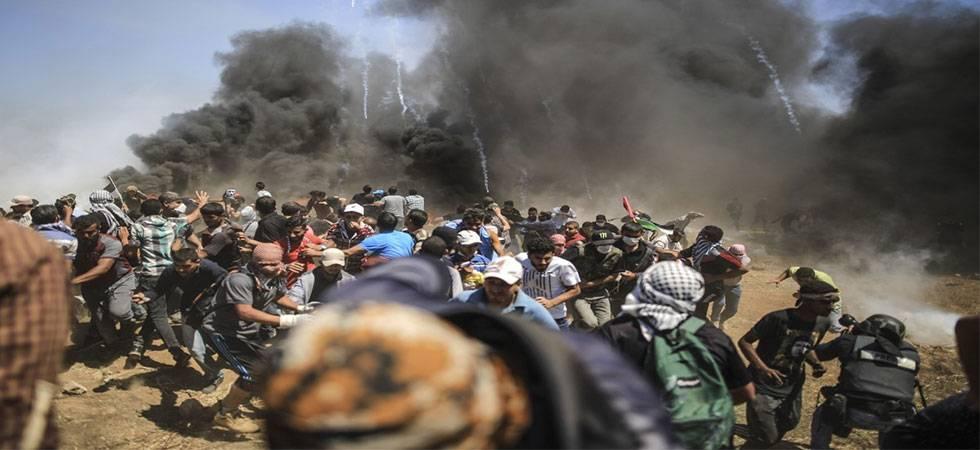 US Embassy in Jerusalem: 55 Palestinians killed, 1204 injured in Gaza protests  (Source-IANS)
