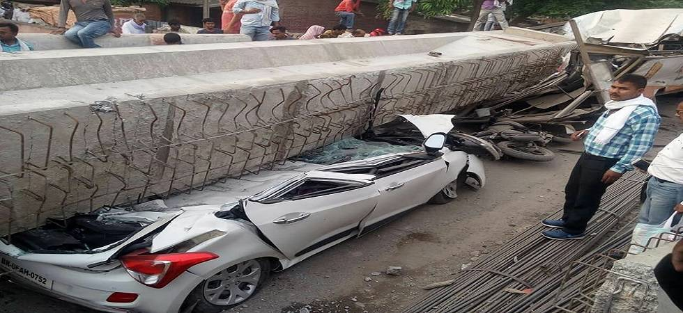 A part of an under-construction flyover has collapsed near Cantt Railway Station in Varanasi