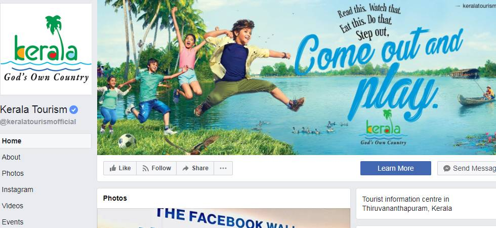Kerala Tourism Page is Best Facebook page