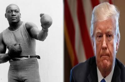 Trump pardons boxer Jack Johnson, first black heavyweight champ