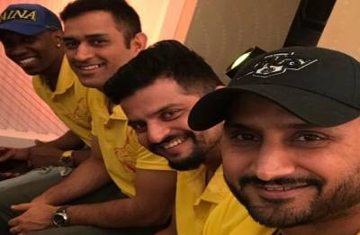 MS Dhoni, Harbhajan Singh, Suresh Raina celebrate CSK's IPL triumph