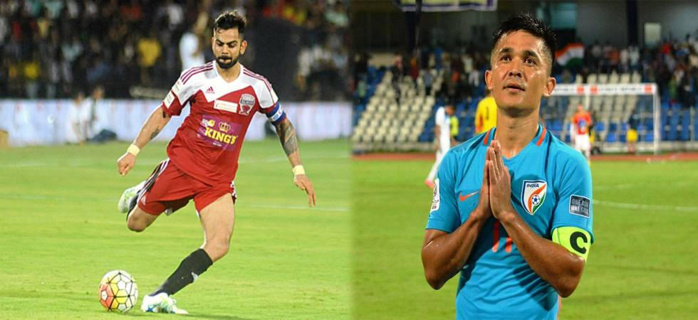 Virat Kohli supports Sunil Chhetri, urges sports fans to watch football team play in stadium