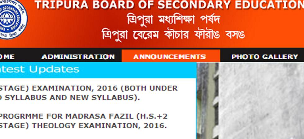 TBSE to declare class 12 Arts, Commerce streams results today