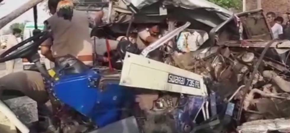 Madhya Pradesh: 12 killed, six injured tractor trolley rams into jeep (ANI Photo)