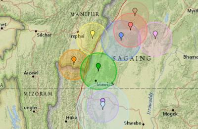 Magnitude 4.0 earthquake rattles Indo-Myanmar border region in Manipur