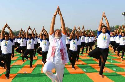Woman falls unconscious before Modi's Yoga Day event at FRI, dies