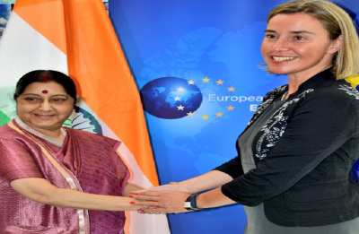 Sushma Swaraj discusses 'maximising' India-EU ties with EU High Representative Federica Mogherini