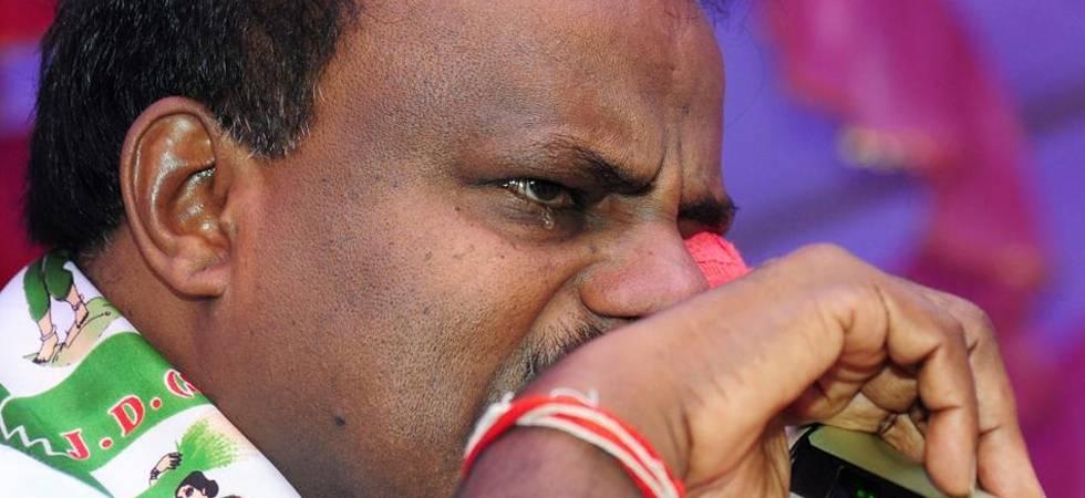 'Swallowing pain like Shiva': Tearful Kumaraswamy on coalition with Congress (PTI Photo)