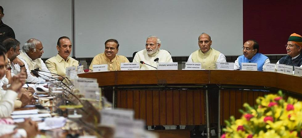 PM Modi chairs all party meeting ahead of Parliament Monsoon Session (File Photo)