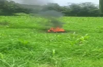 MiG-21 fighter jet crashes, pilot missing