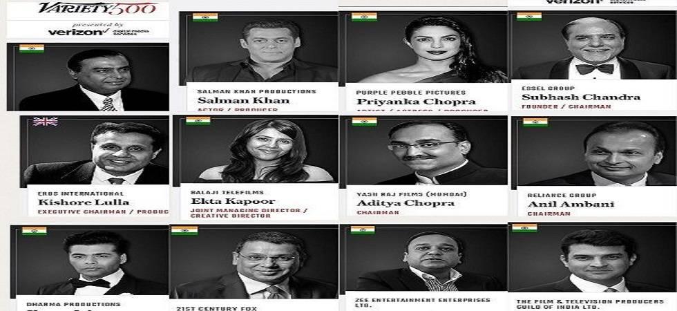 Ambani brothers, Salman, Priyanka among Variety's top 500 leaders shaping global entertainment industry (Photo- Twitter)