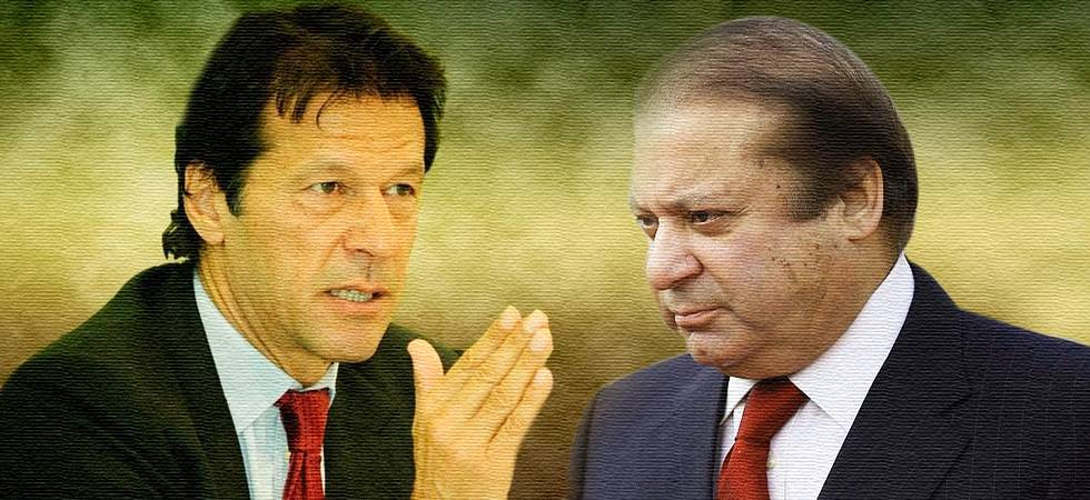 PTI leader Imran Khan (L) and PML leader Nawaz Sharif (Image: newsnation.in)