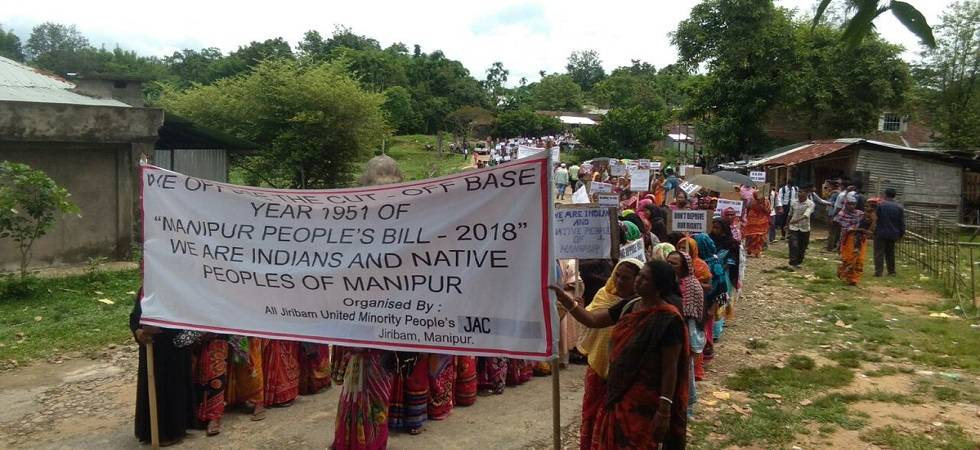 Manipur: 10 injured as mob attacks police  (Photo: Twitter)
